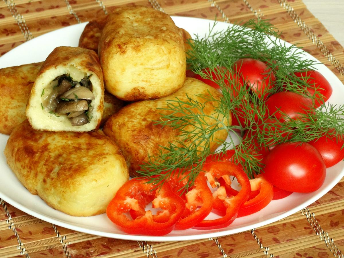 Зразы с грибами из картофеля рецепт
