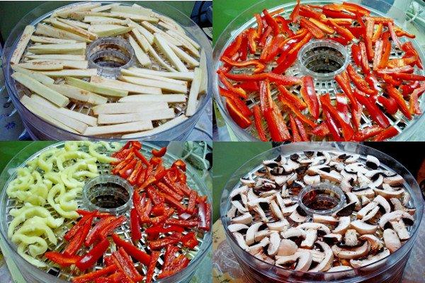 Сушеные овощи на зиму и пример их использования