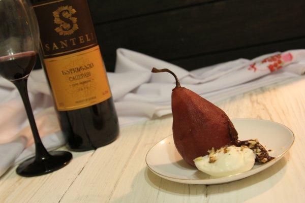 Десерт «Пьяная груша»