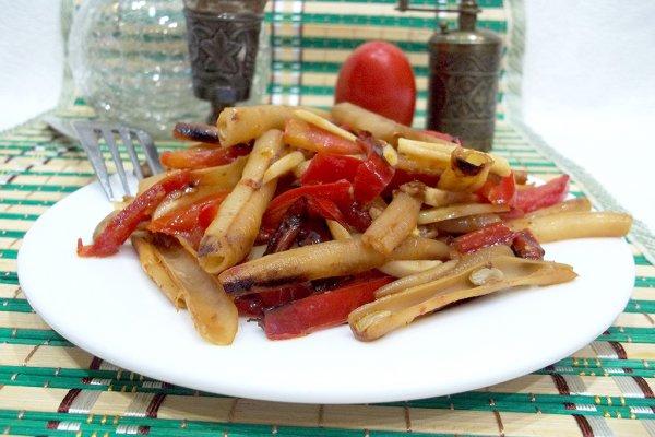 Спаржевая фасоль с болгарским перцем