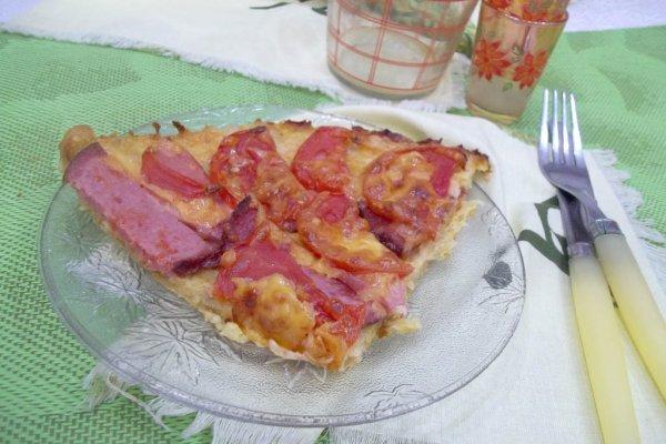 Пицца из кабачкового теста