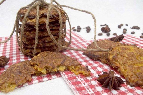 Печенье на рассоле с тыквой
