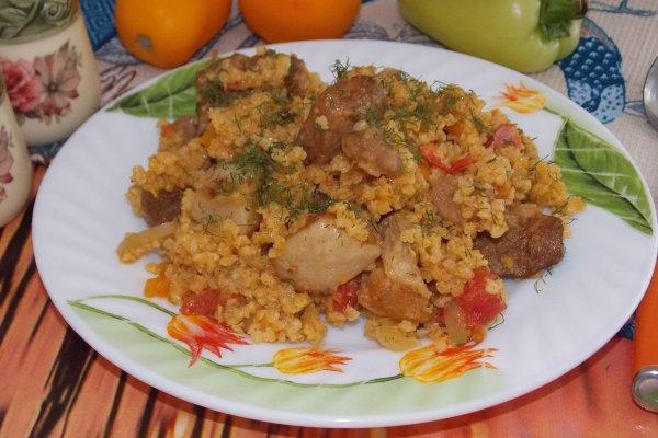 Пшенная каша с мясом и овощами в мультиварке