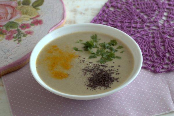 Крем-суп с грибами и картофелем