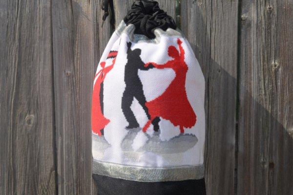 Как сшить мешок-рюкзак для танцевальной обуви