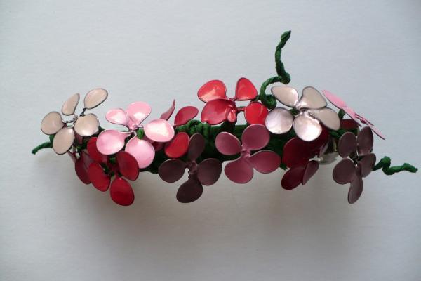 Цветы из проволоки и лака для ногтей мастер класс видео