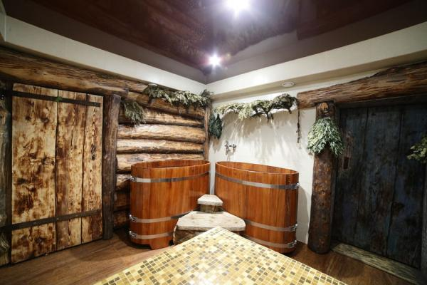 Русская баня в классическом стиле, но в современном исполнении