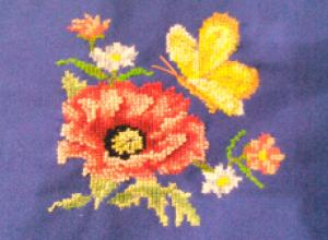 Мастер-класс: вышивка на легкой ткани