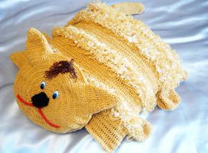 Мастер-класс «Кот Рыжик» (диванная подушка)