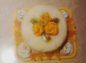 Рецепт торта «Фруктовый бриз»