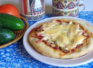 Пицца «Школьная» на тесте из хлебопечки