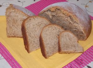 Ржано-пшеничный хлеб на сыворотке
