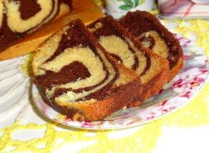 Бисквитный кекс «Зебра»