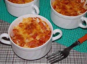 Морской язык с картошкой в духовке в порционных формах