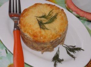 Мясной омлет в духовке в порционных формах