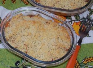 Фруктовый десерт «Яблочно-грушевый крамбл»