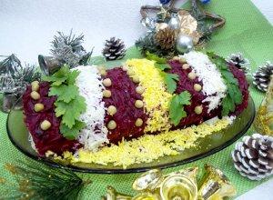Салат «Новогодняя хлопушка»