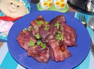 Мясо в смородиново-апельсиновом соусе, запеченное в мультиварке