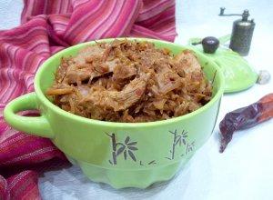 Рагу из капусты, тыквы и мяса в белом вине