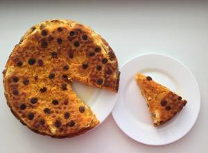 Творожно-тыквенная запеканка с апельсином