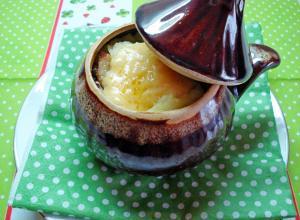 Картофельная запеканка в горшочках