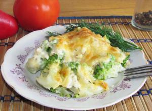 Романеско с сыром в духовке
