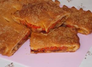 Мясной пирог из слоеного теста «Эмпанада»