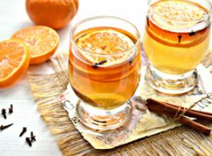 Чай из мандаринов с корицей