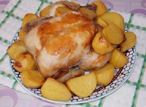 Курица на шампурах в духовке