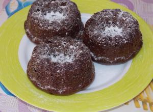 Шоколадно-ореховые кексы на сгущенке