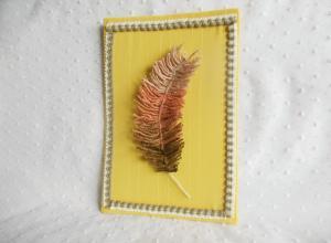 Делаем текстильное панно «Перо Жар-Птицы»