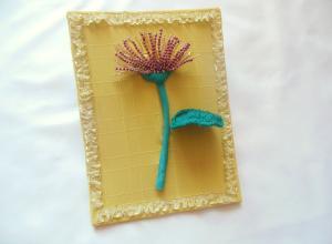 Декоративное панно «Гвоздика»