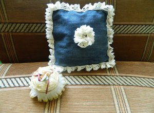 Мастер-класс по пошиву декоративной подушки из старых джинсов