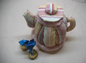 Делаем текстильный чайник для хранения чайных пакетиков