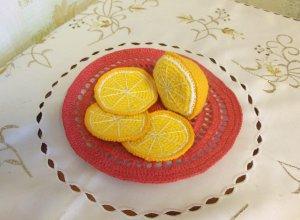 Мастер-класс по вязанию тарелки с апельсином