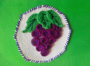 Вяжем текстильное панно крючком
