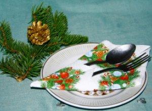 Как красиво сложить салфетку для сервировки праздничного стола