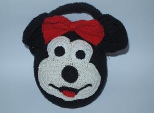 Мастер-класс по вязанию детской сумочки «Микки Маус»
