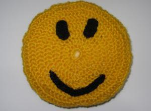 Подушка «Смайлик» крючком