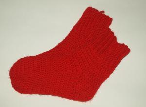 Вязанные носки крючком