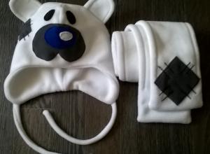Детская шапочка и шарфик «Мишка»