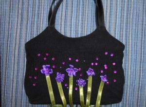 Декорируем сумочку для девочки
