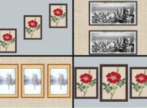 Варианты размещения картинных композиций
