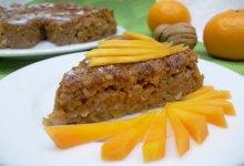 Запеканка с тыквой, овсянкой и апельсинами