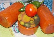 Томатный соус с яблоками и перцем на зиму