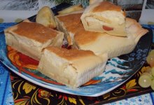 Десертный пирог с воздушной начинкой и яблоками