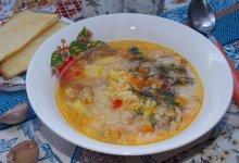 Пшённый суп со шкварками