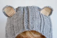 Вяжем повязку для волос «Котик»