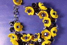 Делаем браслет с желтыми цветами из полимерной глины