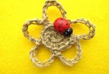 Мастер-класс по вязанию цветка из бечевки крючком